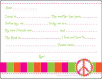 Retro Peace Camp Fill-in Card