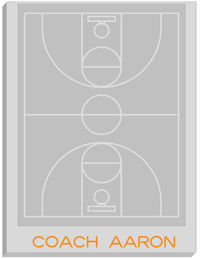 Basketball Court Coach Large Notepad