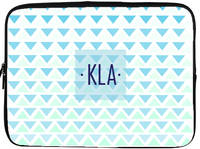 Blue Triangles Laptop/Tablet Sleeve
