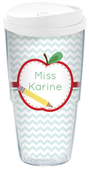 Apple Half Acrylic Travel Cup