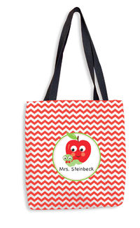 Apple Chevron Tote Bag