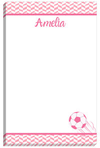 Pink Soccer Notepad