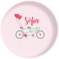 Bicycle For Two Valentine Plate