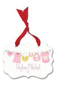 Baby Girl Clothes Line Acrylic Ornament