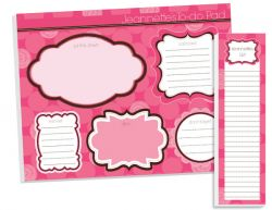 Fuchsia Circles To Do Pad Set