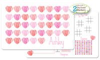 Scribble Hearts Dry Erase Placemat