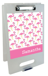 Fancy Flamingos Clipboard Storage Case