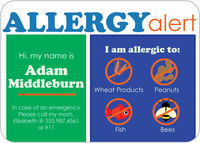 Allergy Block Boy Allergy Card