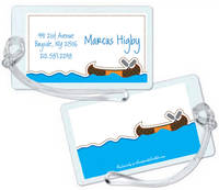 Camp Canoe Luggage Tag