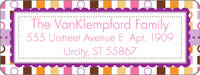 Color Blocks Return Address Label