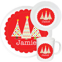 Holiday Trees Melamine Set