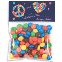 Flower Peace Valentines Candy Bag Toppers