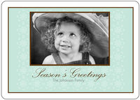 Antique Snowflakes Blue Card