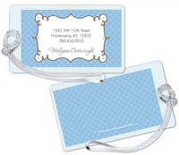 Cafe Blue Luggage Tag