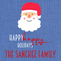 Blue Santa Gift Stickers