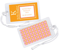 Citrus Pink Luggage Tag