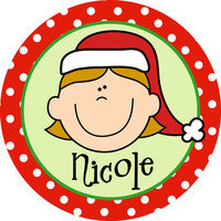Girl Holiday Plate HP005