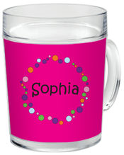 Bubbles Girl Clear Acrylic Mug