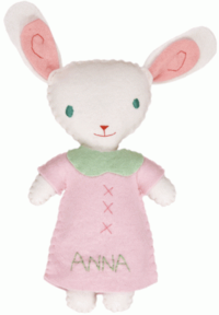 Rabbit Girl Stuffed Animal