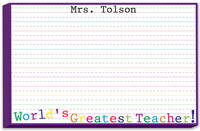 Greatest Teacher Bulky Notepad