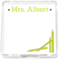 Lime Pencils Mini Memo Sheets
