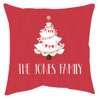 White Christmas Accent Pillow