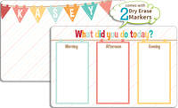 Dainty Banner Dry Erase Placemat