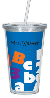 ABC123 Clear Acrylic Tumbler