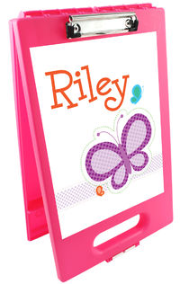 Dotted Butterfly Clipboard Storage Case