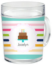 Birthday Girl Cake Clear Acrylic Mug