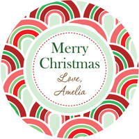 Christmas Waves Gift Stickers