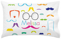 Bright Moustaches Pillowcase