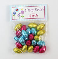 Spring Flowers Easter Candy Bag Toppers