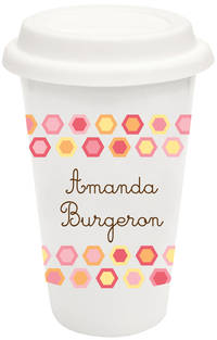 Colorful Hexagons Covered Ceramic Tumbler