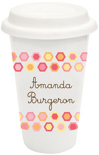 Colorful Hexagons Covered Tumbler