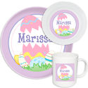 Easter Egg Fun Girl Melamine Set