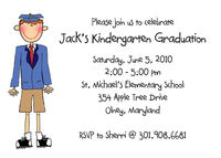 Custom Flat Graduation Invitation Horizontal CFI