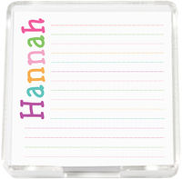 Letter Hues Girl Mini Memo Sheets