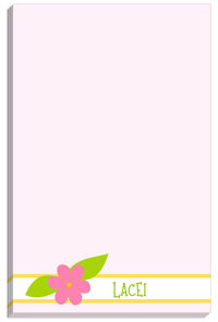 Pink flower Notepad