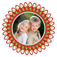 Christmas Burst Round Card