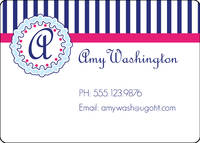 Nautical Pink Calling Card