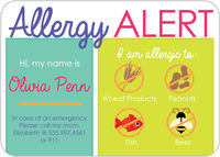 Allergy Block Girl Allergy Card