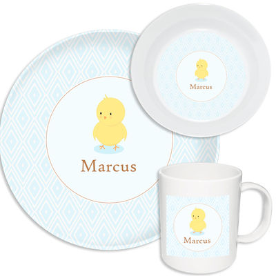 Blushing Chickie Boy Melamine Set