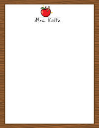 Apple for Teacher II Large Notepad