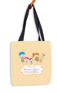 Drawn Chevron Kids Tote Bag