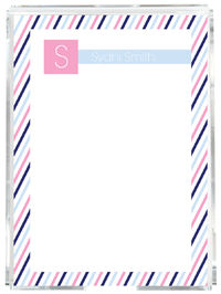 Blue Pink Stripes Memo Sheets