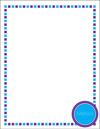 Blue Purple Border Large Notepad