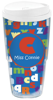 ABC Teacher Acrylic Travel Cup