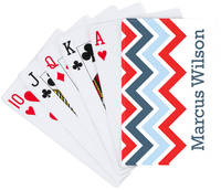 Navy Chevron Playing Cards