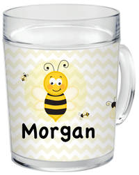 Bumble Bee Clear Acrylic Mug